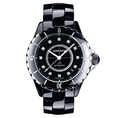 CHANEL J12 Ceramic Automatic Diamond Dial Watch H1626